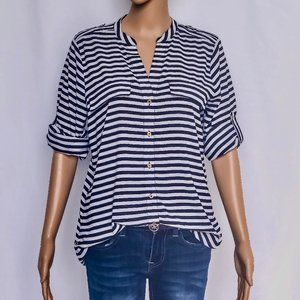 Calvin Klein Striped Roll-Up Shirt